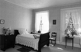 Emily Dickinson's bedroom. Courtesy of Amherst College.