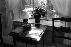 Emily Dickinson's writing table. Courtesy of Amherst College.