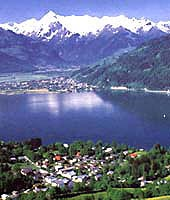 The village of Zell Am See in the breathtaking Austrian Alps. Courtesy of The Alps.com.