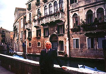 Having lived in Venice for over thirty years, Hotel Cipriani Managing Director Natale Rusconi knows the city's secrets. © Sharon Lloyd Spence and Diana Schuster.
