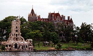 Copyright E. Lisa Moses. Beautiful Boldt Castle with Alster Tower in the foreground.