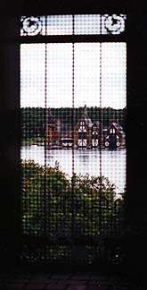 Copyright E. Lisa Moses. Boldt Castle Boathouse as seen from inside the castle.