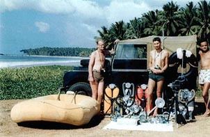 Clarke and company discovered treasure off Sri Lanka's coast. Courtesy of Sir Arthur C. Clarke, 1956.
