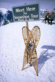 Snowshoeing is one of the non-gravity-dependent entertainment options. Copyright: Ken Missbrinner.