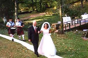 Here comes the bride! Photo courtesy of Seven Pines Lodge.