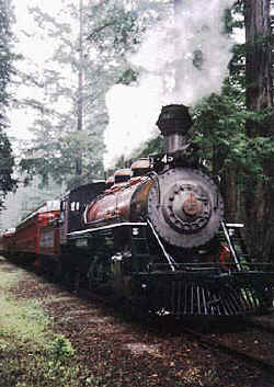 Skunk Line train - photo curtosy Fort Bragg Mendocino Coast Chamber of Commerce.