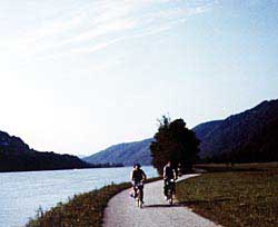 Most of the Danube Bicycle Path follows former horse paths where teams of horses tugged barges upsteam. Copyright Jim Johnson