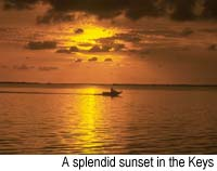 A splendid sunset in the Keys. Copyright Milton Fullman, 1999
